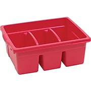 Copernicus Educational Products Leveled Reading Large Divided Book Tubs, Red (CEPCC4069R)