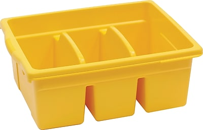 Copernicus Educational Products Leveled Reading Large Divided Book Tubs, Yellow