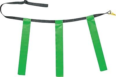 Triple Flag Football Set Green, Adult Size, 32