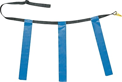 Triple Flag Football Set Blue, Youth Size, 25