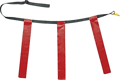 Triple Flag Football Set Red, Youth Size, 25