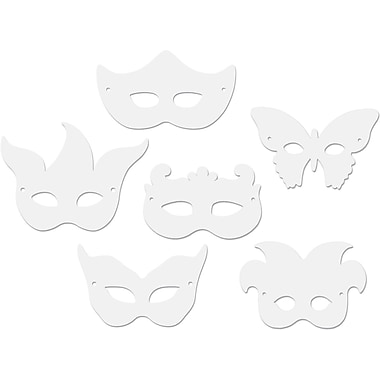 Chenille Craft Die Cut Mardi Gras Masks, 144/Pack (CK-4651)