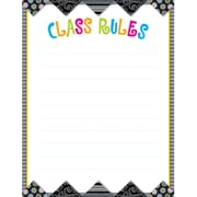 Creative Teaching Press™ Poster Chart, Black and White Collection Class Rules