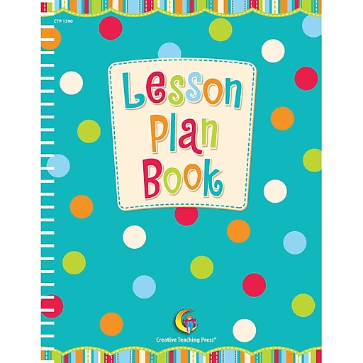 Creative Teaching Press™ Dots on Turquoise Lesson Plan Book, 3 EA/BD