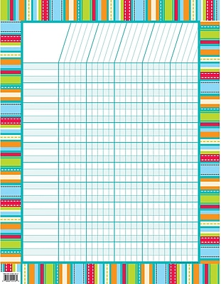 Stripes And Stitches Dots On Turquoise Chart