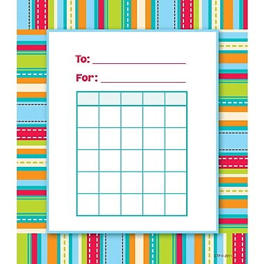 Creative Teaching Press™ Student Incentive Chart, Stripes and Stitches