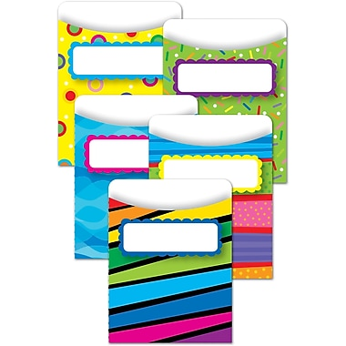 Creative Teaching Press, Poppin' Patterns Library Pocket, 140/Pack (CTP6918)
