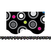 Creative Teaching Press Toddler - 12th Grades Scalloped Border, Polka Dot Party, 72/Pack (CTP7133)