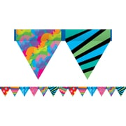 Creative Teaching Press™ Toddler - 12th Grades Pennant Border, Poppins's Patterns®