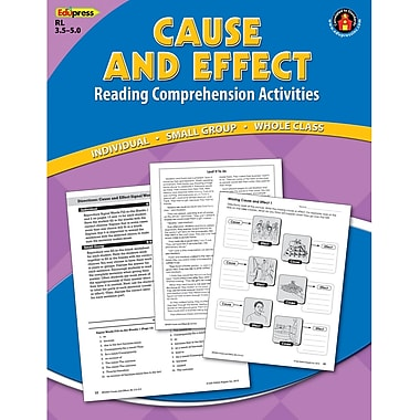 Edupress Cause and Effect Reading Comprehension Activities Book, Blue Level (EP-2363)