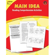 Edupress Main Idea Reading Comprehension Activities Book, Grades 1st - 3rd, Red Level