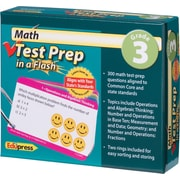 Edupress® Math Test Prep in a Flash™ Color-Coded Flash Cards, Grades 3rd