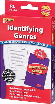 Identifying Genres Reading Comprehension Cards, Red 2.0-3.5