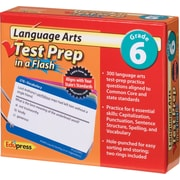 Edupress® Language Arts Test Prep in a Flash™, Grades 6th