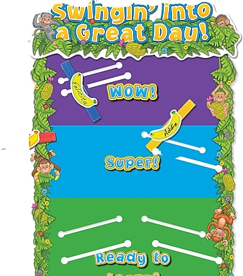 Edupress® Monkey Behavior Chart Mini Bulletin Board Set, Motivational