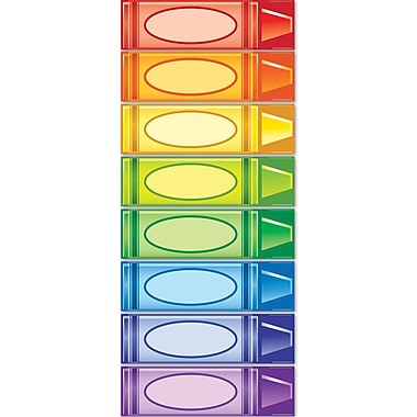 Edupress® Bulletin Board Set, Crayons Center Signs