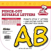 Eureka® Peanuts® Reusable Punch Out Deco Letters, Yellow