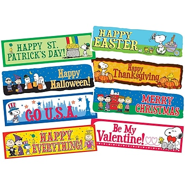 Eureka Bulletin Board Set, Peanuts Year Of Holidays (EU-847063)
