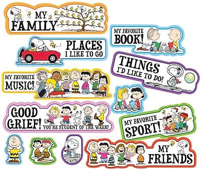 Peanuts® Star of the Week Mini Bulletin Board Set