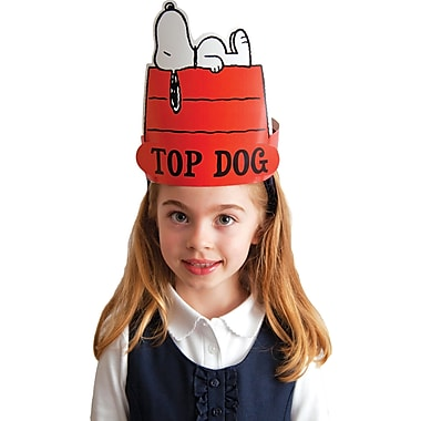 Eureka Peanuts Snoopy Top Dog Wearable Cut-Out Hat, 32/Pack (EU-861002)