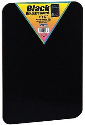 "Flipside® Black Dry Erase Board, 12"" x 9"""