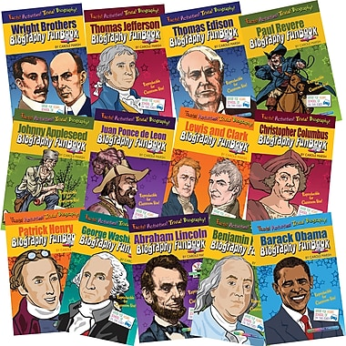Gallopade Biography Fun Book, Presidents, Inventors and Explorers, Grades 1st - 5th, 13/Set (GALFBSETPIEK)