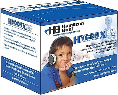 Hamilton Buhl™ HygenX Disposable Headphone Covers, 2.5