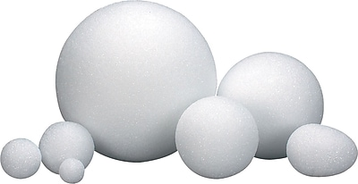 Hygloss® Styrofoam Balls and Eggs, 4