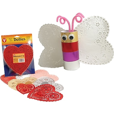 Hygloss® Heart Paper Lace Doilies