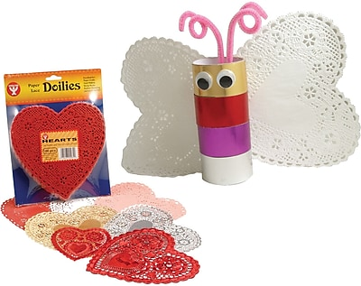 Hygloss® Heart Paper Lace Doilies