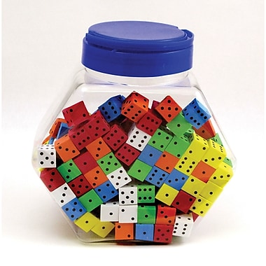 Koplow Games 16 Mm Foam Dice Tub Of 200 Assorted Colour Spot, Grades Pre-school - Kindergarten+