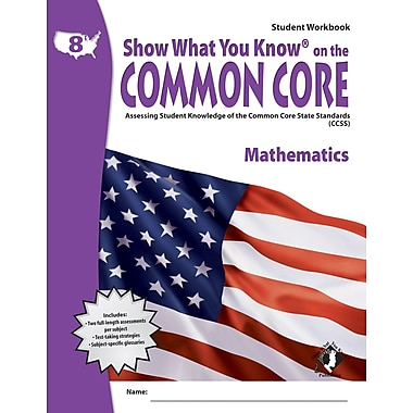 Milliken & Lorenz Educational Press Common Core Show What You Know Reading Maths Workbook, Grade 8th