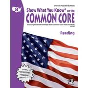 Milliken & Lorenz Educational Press Parent Teacher Edition Common Core Reading Book, Grades 8th