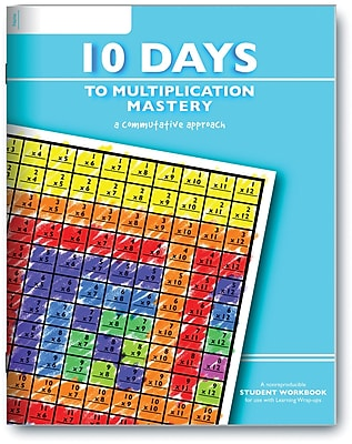 Learning Wrap-Ups 10 Days to Multiplication Student Workbook, Grades 3rd - 4th