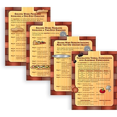 McDonald Publishing® Poster Set, Solving Algebra Word Problems