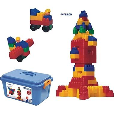 Miniland EducationalMD – Blocks, le jeu de blocs, 120 pièces par ensemble