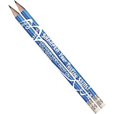 Musgrave Pencil Company Sharpen Your Testing Skills Pencil, Reward/Praise, 72/Pack (MUS2458D)