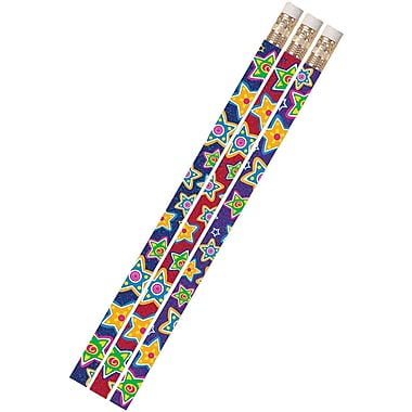 Musgrave Pencil Company Mad About Stars Pencil, Stars And Stripes, 72/Pack (MUS2486D)