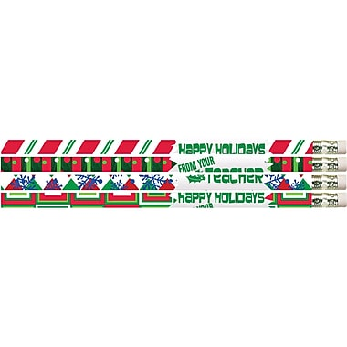 Musgrave Pencil Company Happy Holidays From Your Teacher Pencil, Dozen
