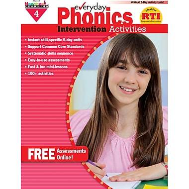 Newmark Learning NL0418 Everyday Phonics Intervention Activities Book, Grade 4