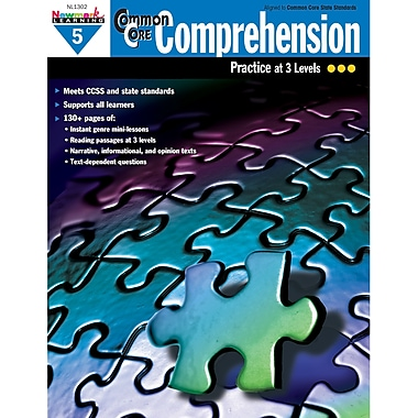 Newmark Learning, Common Core Comprehension Practise Book, Grades 5th