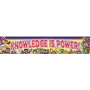 "North Star Teacher Resources NST1213 69"" x 13"" Straight Knowledge is Power Superheroes Banner, Multicolor"
