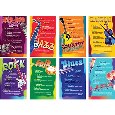 North Star Teacher Resources Bulletin Board Set, Music Genres, 8/Pack (NST3059)