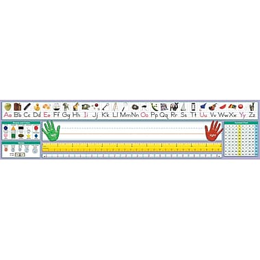 North Star Teacher Resources Pre School - 2 Grade Desk Plate, Traditional Manuscript, 36/Pack (NST9040)