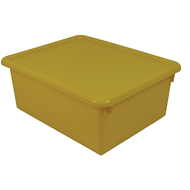 Romanoff Products Stowaway Letter Box with Lid, Yellow (ROM16003)