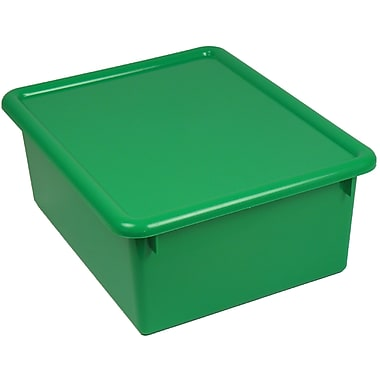 Romanoff Products Stowaway Letter Box with Lid, Green (ROM16005)