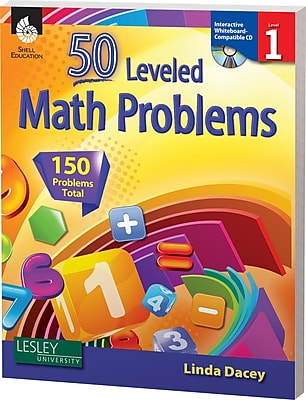 50 Leveled Math Problems w/CD, Level 1