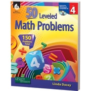 Shell Education® 50 Leveled Math Problems Book, Level 4