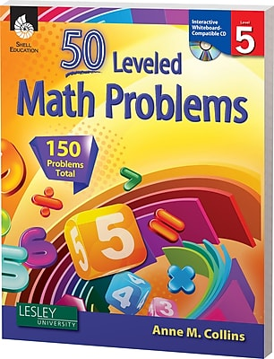 50 Leveled Math Problems w/CD, Level 5