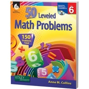 Shell Education® 50 Leveled Math Problems Book, Level 6
